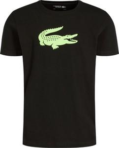 T-shirt Lacoste z nadrukiem z krótkim rękawem