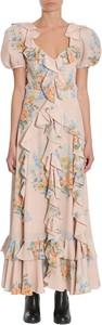Sukienka Alexander McQueen z jedwabiu