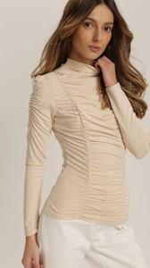 Bluzka Renee z okrągłym dekoltem z długim rękawem