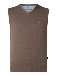 Brązowa kamizelka Fynch Hatton z bawełny