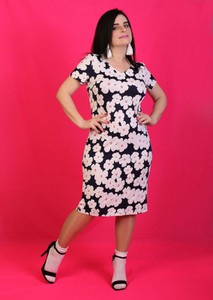 Sukienka Oscar Fashion w stylu casual z krótkim rękawem