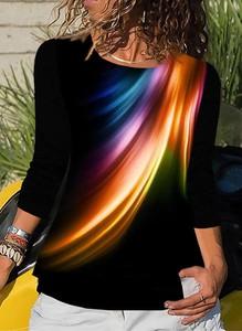 Czarna bluzka Sandbella w stylu casual z okrągłym dekoltem