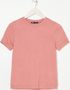 T-shirt Sinsay w stylu casual z okrągłym dekoltem z bawełny
