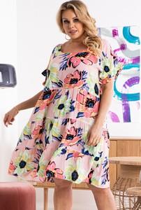 Sukienka KARKO z tkaniny w stylu casual mini