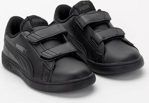 Czarne buty sportowe dziecięce Puma na rzepy