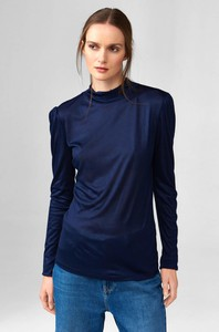 T-shirt ORSAY z długim rękawem w stylu casual z golfem
