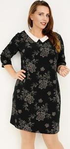 Sukienka Zaps Collection z kołnierzykiem w stylu casual z długim rękawem