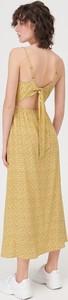 Żółta sukienka Sinsay bez rękawów maxi