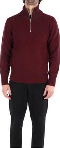 Czerwony sweter Brooksfield w stylu casual