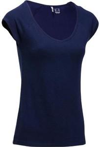 Granatowy t-shirt Domyos
