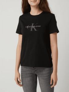 T-shirt Calvin Klein z bawełny z krótkim rękawem w młodzieżowym stylu