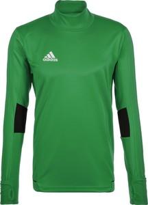 Zielona koszulka dziecięca Adidas Performance z długim rękawem z dżerseju