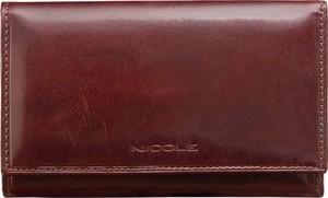Czerwony portfel Nicole ze skóry