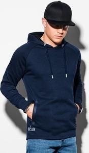 Granatowa bluza Ombre z bawełny w młodzieżowym stylu