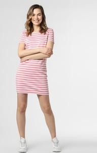 Różowa sukienka Vila z krótkim rękawem mini w stylu casual