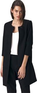 Czarny płaszcz Nife w stylu casual