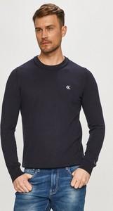 Sweter Calvin Klein w stylu casual z okrągłym dekoltem z dzianiny