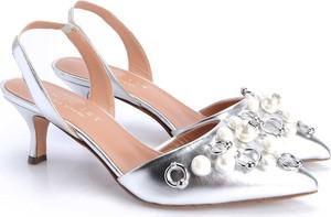 Srebrne sandały Twinset w stylu casual na obcasie na średnim obcasie