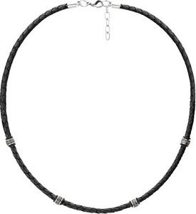 Manoki WA462B czarny naszyjnik męski rzemień, beads