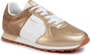 Złote buty sportowe Pepe Jeans