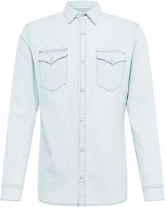 Niebieska koszula Jack & Jones z długim rękawem