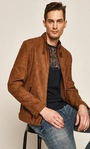 Brązowa kurtka Medicine w stylu casual z zamszu