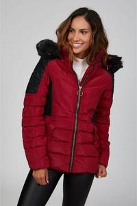 Czerwona kurtka Le Comptoir Du Manteau w stylu casual