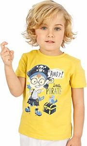 Żółta koszulka dziecięca amazon.de z krótkim rękawem