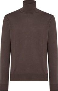 Brązowy sweter Peuterey w stylu casual z wełny