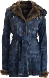 Niebieski płaszcz Fracomina w stylu casual