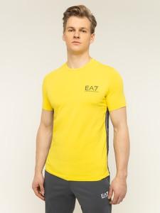 Żółty t-shirt Emporio Armani