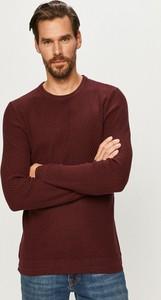 Czerwony sweter Selected w stylu casual z bawełny