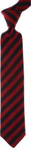 Bordowy krawat Borrelli