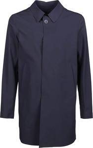 Niebieski płaszcz męski Herno