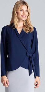 Niebieska bluzka Figl z dekoltem w kształcie litery v