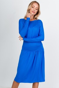 Niebieska sukienka ZOiO.pl z długim rękawem