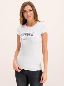 T-shirt Armani Jeans w stylu casual z krótkim rękawem z okrągłym dekoltem