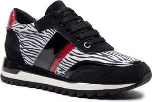 Czarne buty sportowe Geox sznurowane z zamszu