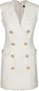 Sukienka Balmain z dekoltem w kształcie litery v mini