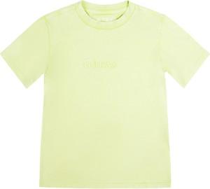 Zielona koszulka dziecięca Guess z długim rękawem