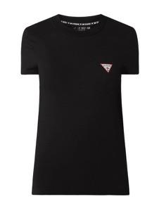 Czarna bluzka Guess z okrągłym dekoltem w stylu casual