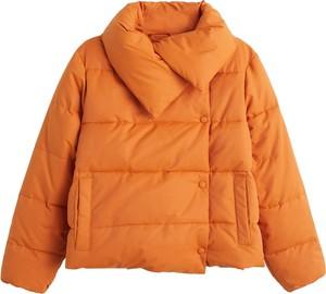 Pomarańczowa kurtka Mango w stylu casual
