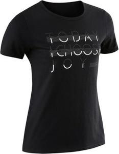 Czarna koszulka dziecięca Domyos z bawełny