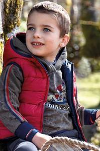 Czerwona kamizelka dziecięca Mayoral z tkaniny