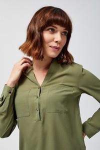 Zielona koszula Moodo z długim rękawem