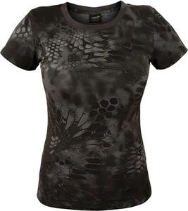 Czarny t-shirt Texar z krótkim rękawem z okrągłym dekoltem z bawełny