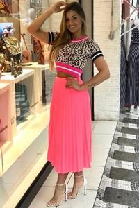 dc821f93 Różowe spódnice plisowane, kolekcja lato 2019