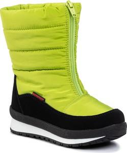Zielone buty dziecięce zimowe CMP na zamek