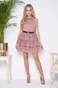 Sukienka Ella Boutique z tiulu mini bez rękawów