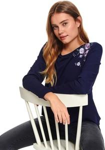 Granatowa bluzka Top Secret w młodzieżowym stylu